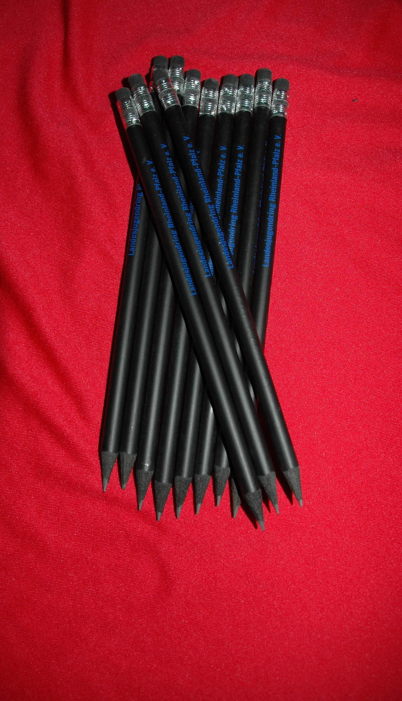 Bleistifte mit Landesjugendring Logo (Schwarz/Radiertip/FSC zertifiziert)
