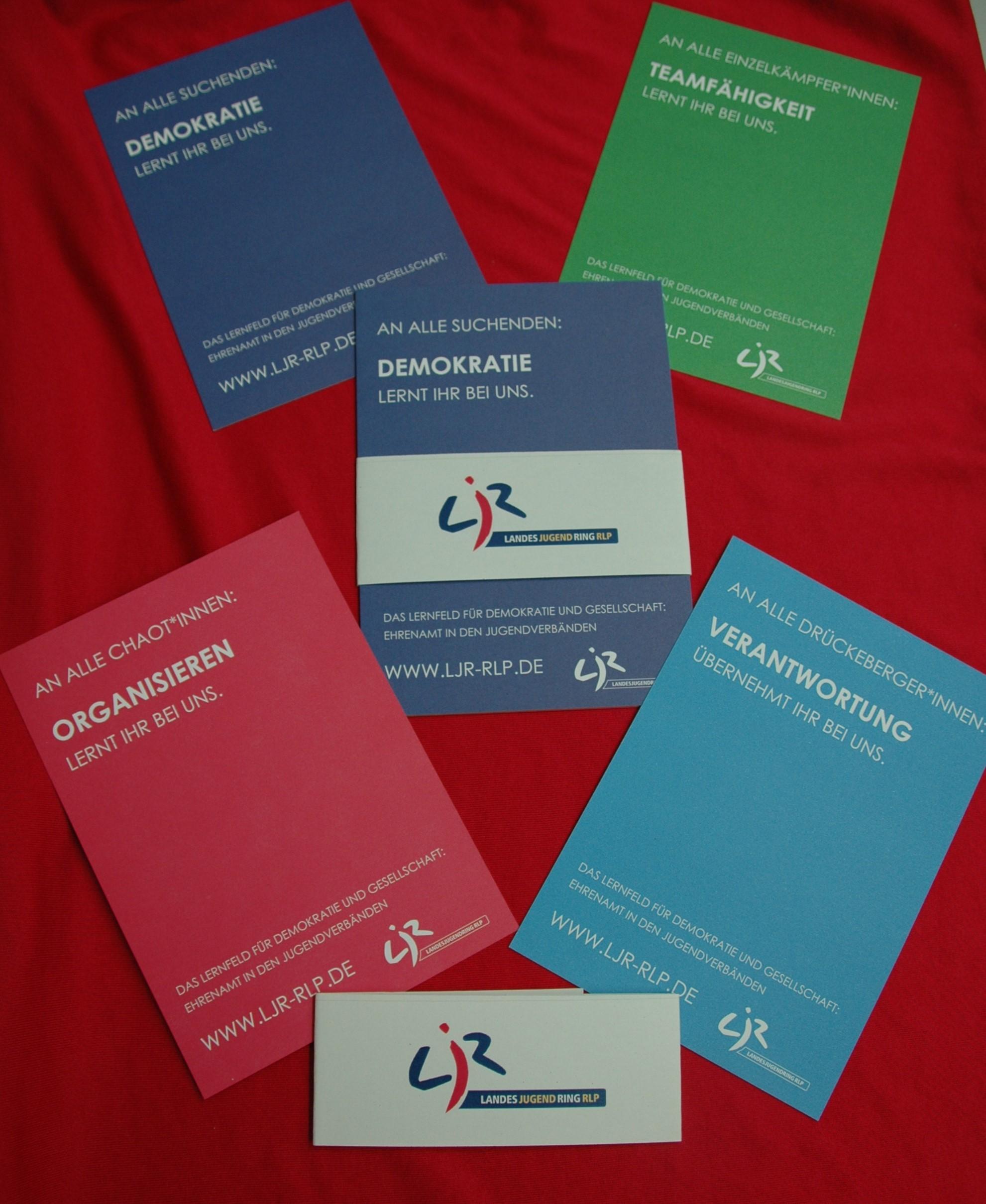 Das Lernfeld für Demokratie und Gesellschaft: Ehrenamt in den Jugendverbänden (Postkarten 4x)